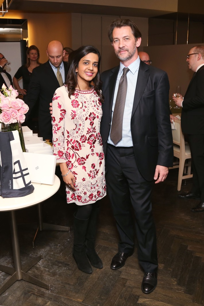 Nikita Mehta, Thomas Fontaine attend JEAN PATOU Celebrates a Century of Style at Bergdorf Goodman with the Museum of the City of New York (Photo by J.Grassi)