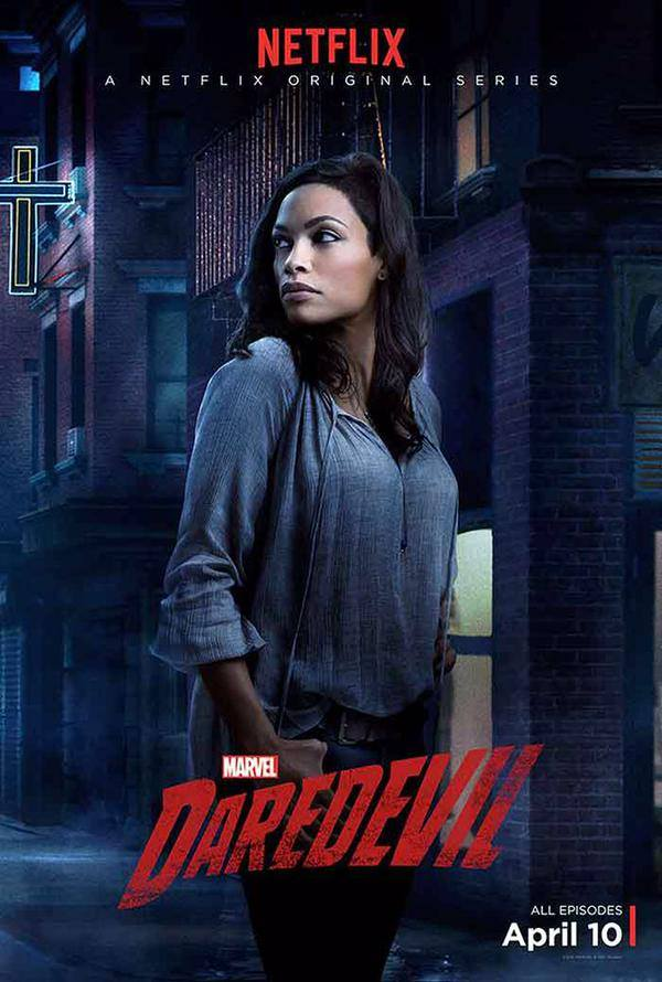 Rosario Dawson  attends Netflix show Marvel's Daredevil Premier Party