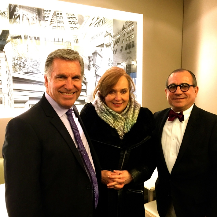 Lee Davis, Pat Saxby and George Ledes attend JEAN PATOU Celebrates a Century of Style at Bergdorf Goodman with the Museum of the City of New York (Photo by J.Grassi)