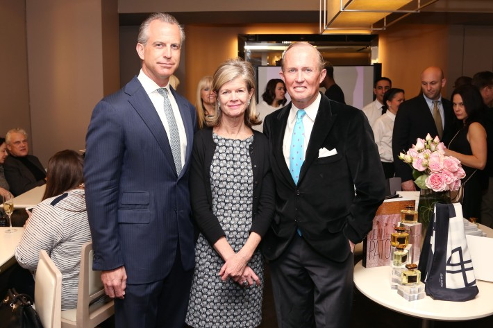 Lise Arliss, Mark Gilbertso attend JEAN PATOU Celebrates a Century of Style at Bergdorf Goodman with the Museum of the City of New York (Photo by J.Grassi)