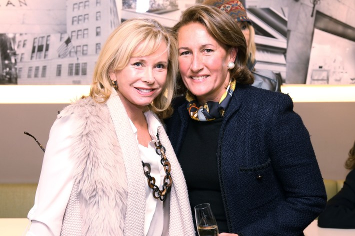 Sharon Bush, Christine Schott Ledes attend JEAN PATOU Celebrates a Century of Style at Bergdorf Goodman with the Museum of the City of New York (Photo by J.Grassi)