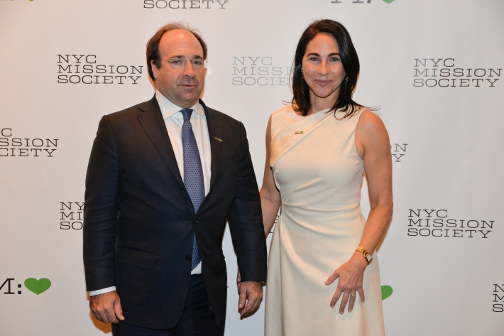 """John Bader, Peggy Bader  attend NYC Mission Society """"Champions for Children"""" Gala (Photo by Annie Watt)"""