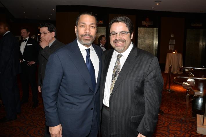 "Valentino Carlotti and Arturo O'Farrill attend NYC Mission Society ""Champions for Children"" Gala (Photo by Annie Watt)"