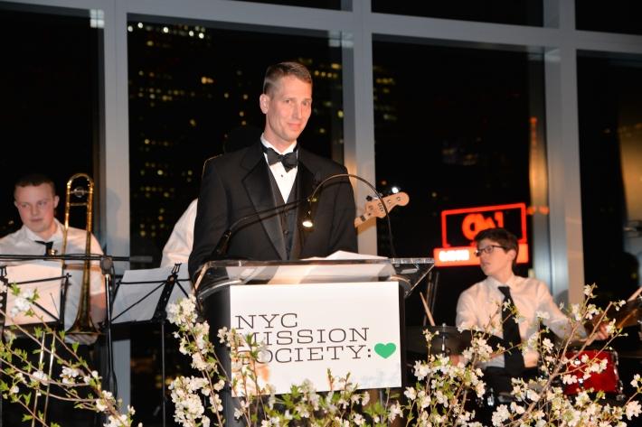 """Derek Steinhiser at NYC Mission Society """"Champions for Children"""" Gala (Photo by Annie Watt)"""