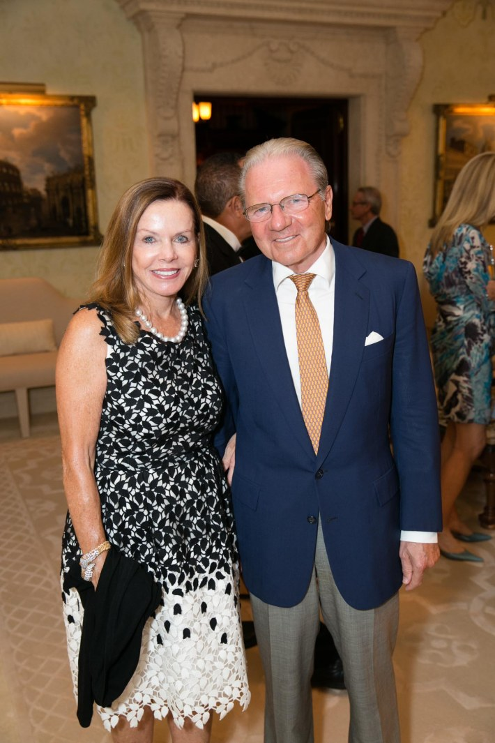 Lynne Wheat, Thomas Peterffy attend Palm Beach doctors and donors dinner for Hope for Depression Research Foundation (Photo by Doug McGlothlin)