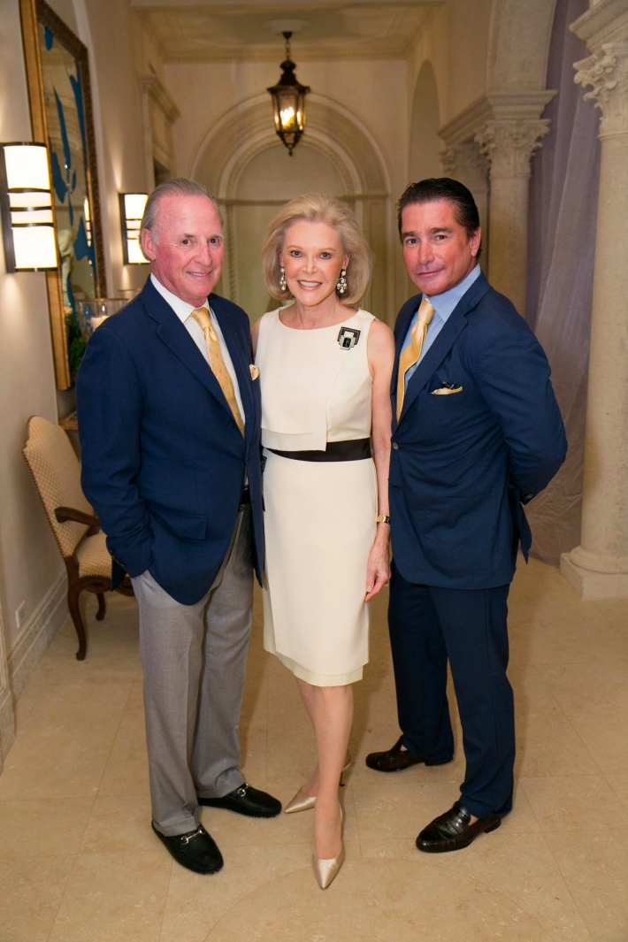 Martin Gruss, Audrey Gruss, TK attend Palm Beach doctors and donors dinner for Hope for Depression Research Foundation (Photo by Doug McGlothlin)