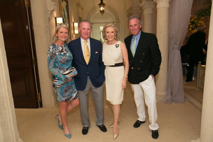 Susan Malloy, Martin Gruss, Audrey Gruss, Tim Malloy attend Palm Beach doctors and donors dinner for Hope for Depression Research Foundation (Photo by Doug McGlothlin)