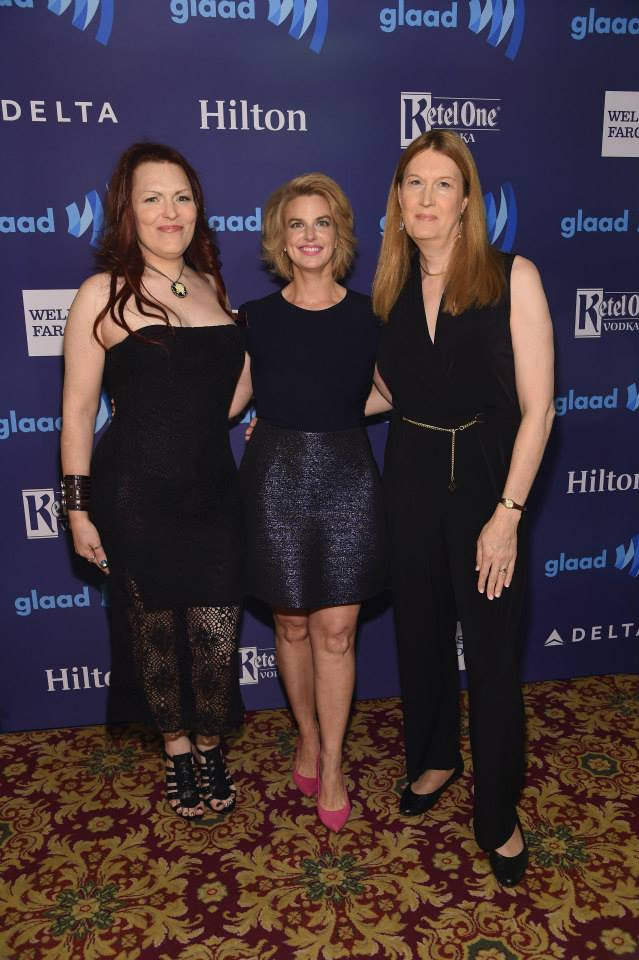 Christina Kahrl, GLAAD CEO and president Sarah Kate Ellis and Jennifer Finney Boylan attend the 26th Annual GLAAD Media Awards In New York