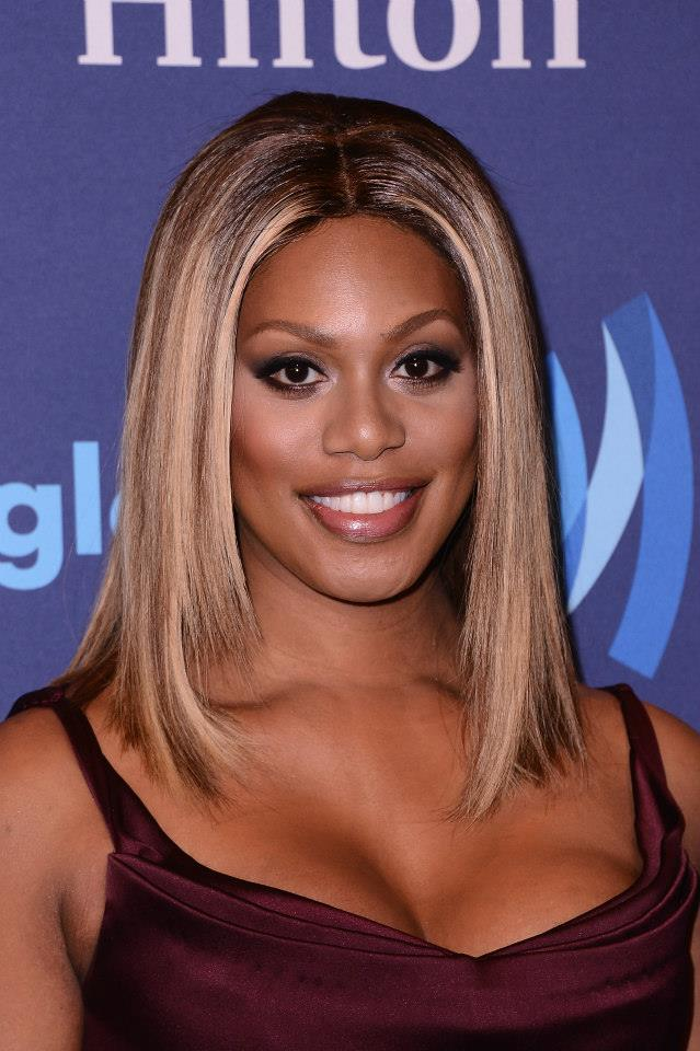 averne Cox attends the 26th Annual GLAAD Media Awards In New York