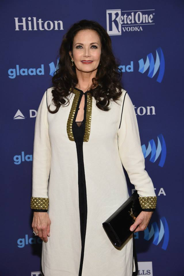 Lynda Carter attends the 26th Annual GLAAD Media Awards In New York (Photo by MikeCoppola)