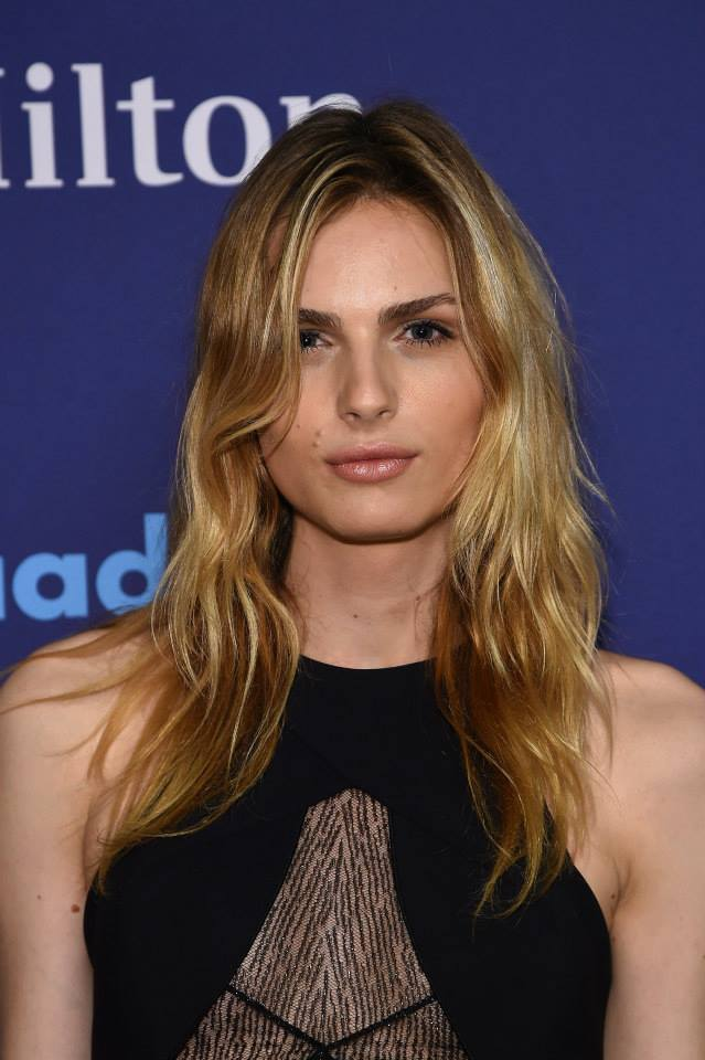 Andreja Pejic attends the 26th Annual GLAAD Media Awards In New York