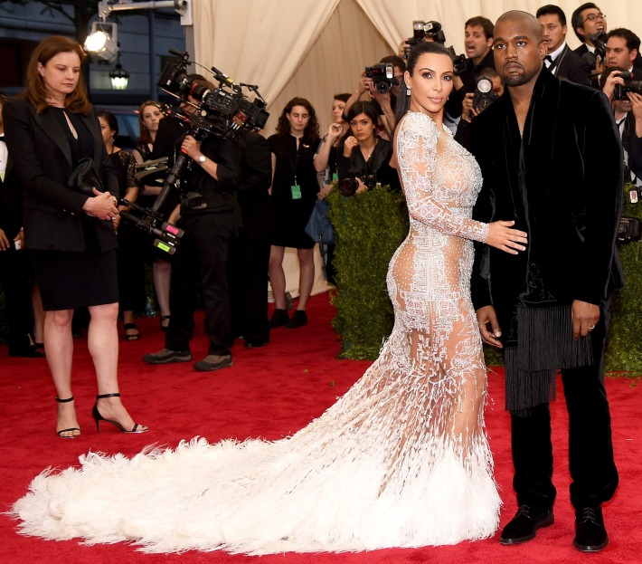 Kim Kardashian West and Kanye West attend the 'China: Through The Looking Glass' Costume Institute Benefit Gala at Metropolitan Museum of Art