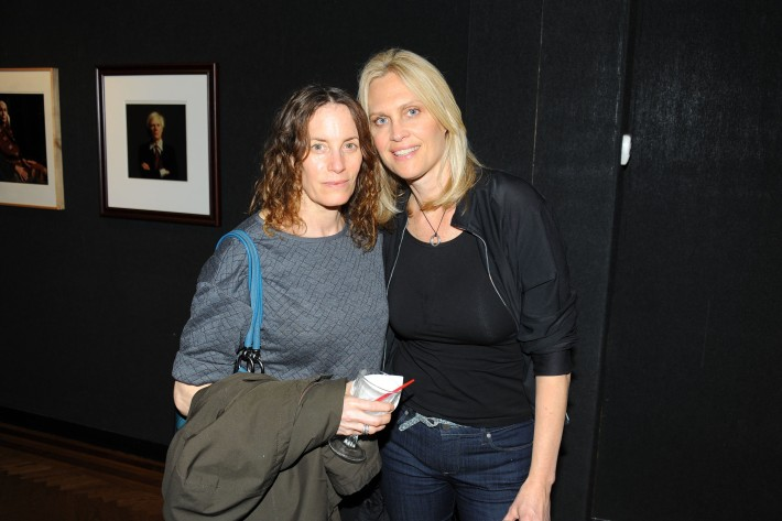 Laura Hughes, Sharon Middendorf attend Halsband Portraits at The National Arts Club (Photo by PaulBruinooge)