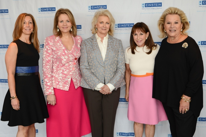 Terri Goldberg, Renee Fleming, Candice Bergen, Andrea Stark, Carol Roaman attend The Women's Division of Albert Einstein College of Medicine hosted its 61st Annual Spirit of Achievement Luncheon (Photo by East Coast Photography)