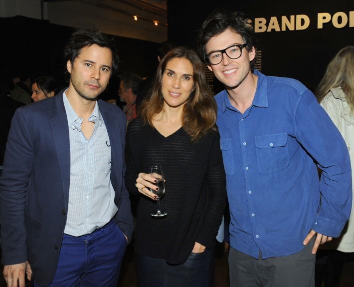 Franck Raharinosy, Daphne Ligne, Jonathan Bricklin attend Halsband Portraits at The National Arts Club (Photo by PaulBruinooge)