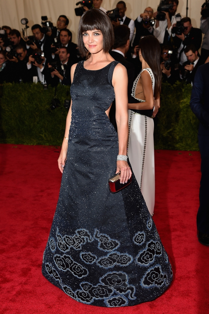NKatie Holmes attends the 'China: Through The Looking Glass' Costume Institute Benefit Gala at Metropolitan Museum of Art