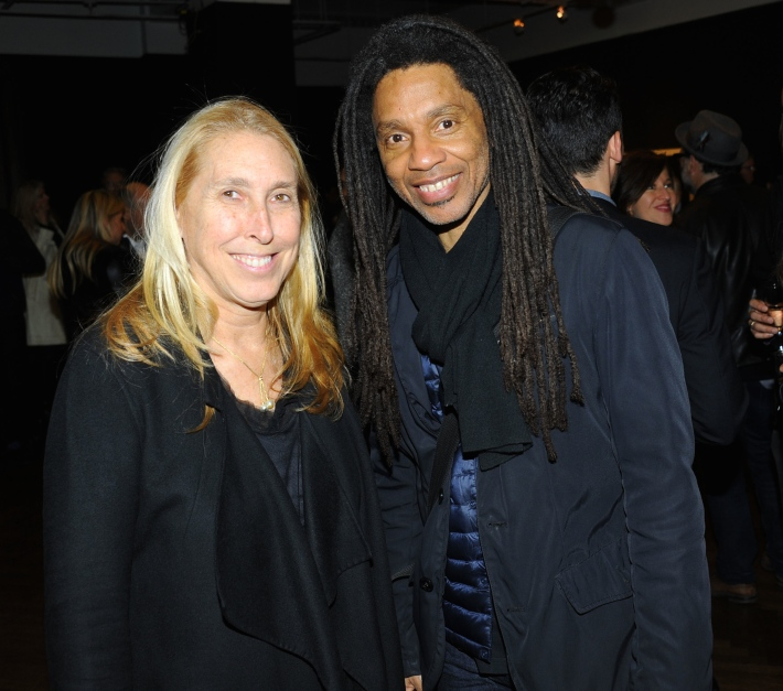 Lisa Phillips, Brandon Ross attend Halsband Portraits at The National Arts Club (Photo by PaulBruinooge)