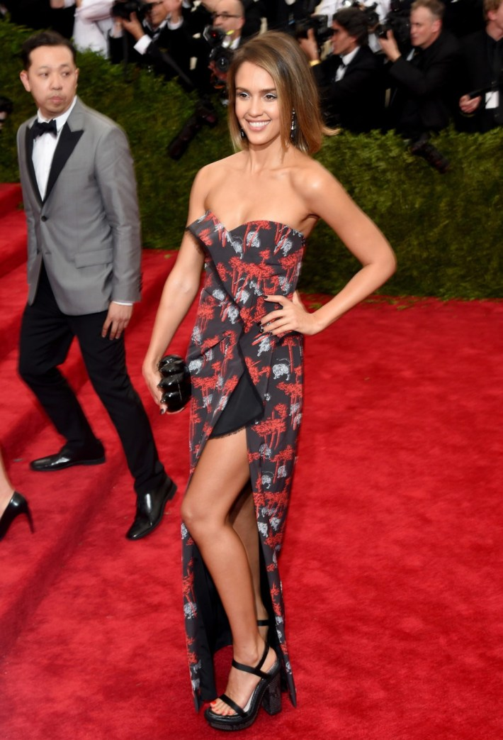 Jessica Alba attends the 'China: Through The Looking Glass' Costume Institute Benefit Gala at Metropolitan Museum of Art