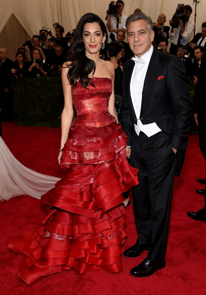 Amal Clooney and George Clooney attend the 'China: Through The Looking Glass' Costume Institute Benefit Gala at Metropolitan Museum of Art