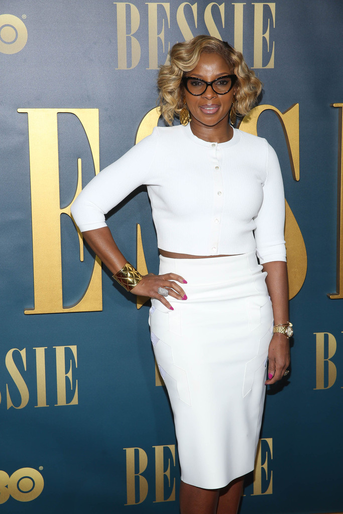 Mary J. Blige attends the 'Bessie' New York screening at The Museum of Modern Art
