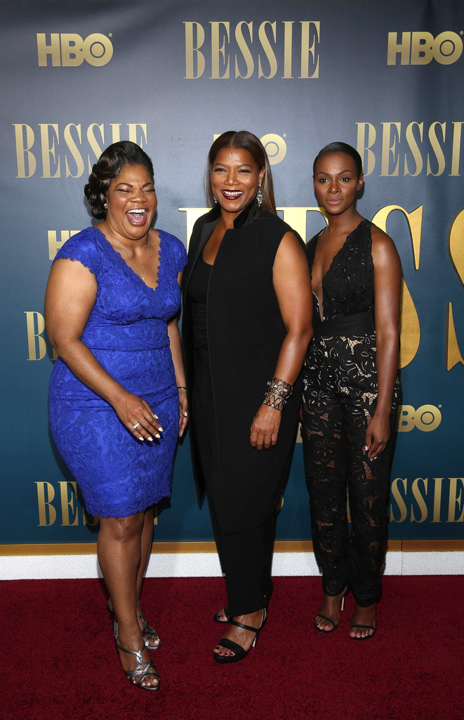 Mo'Nique, Queen Latifah and Tika Sumpter attend the 'Bessie' New York screening at The Museum of Modern Art