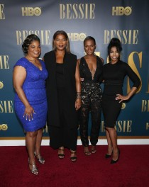 Mo'Nique, Queen Latifah, Tika Sumpter and Khandi Alexander attend the 'Bessie' New York screening at The Museum of Modern Art