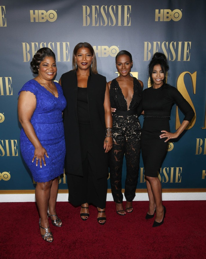 Mo'Nique, Queen Latifah, Tika Sumpter and Khandi Alexander attend the 'Bessie' New York screening at The Museum of Modern Art