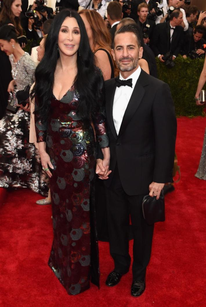 Cher and Marc Jacobs attend the 'China: Through The Looking Glass' Costume Institute Benefit Gala at Metropolitan Museum of Art