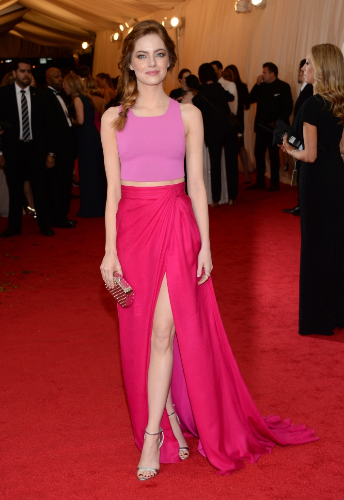 Emma Stone attends the 'China: Through The Looking Glass' Costume Institute Benefit Gala at Metropolitan Museum of Art
