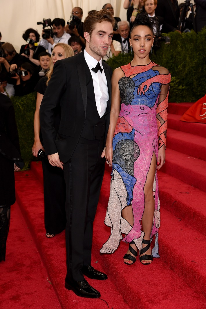 Robert Pattinson and FKA twigs attend the 'China: Through The Looking Glass' Costume Institute Benefit Gala at Metropolitan Museum of Art