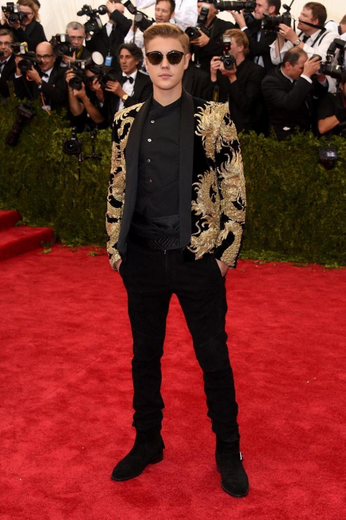 Justin Bieber attends the 'China: Through The Looking Glass' Costume Institute Benefit Gala at Metropolitan Museum of Art
