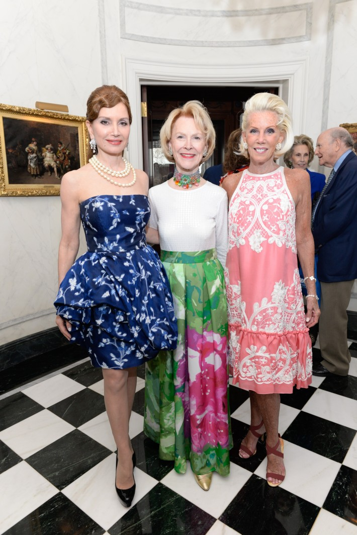 Jean Shafiroff, Elizabeth Stribling, CeCe Black attend French Heritage Society Pre-Summer Solstice Cocktails Hosted by Jean Shafiroff (Photo by Presley Ann)