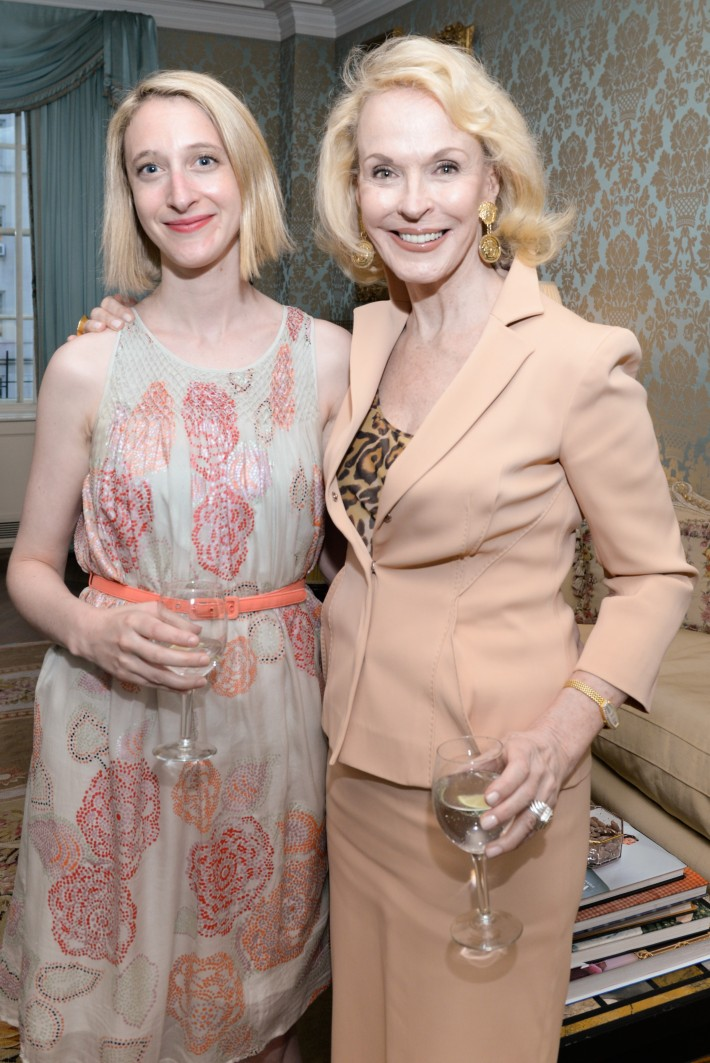 Isabelle Lefebvre-Vary, Nancy Collins attend French Heritage Society Pre-Summer Solstice Cocktails Hosted by Jean Shafiroff  (Photo by Presley Ann)