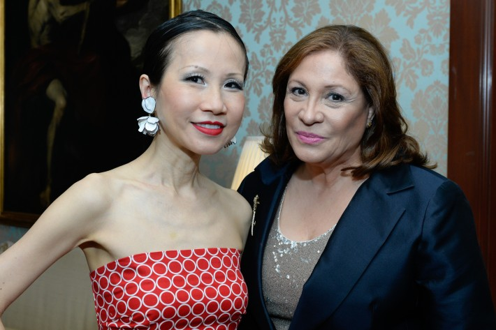 Chiu-Ti Jansen, Lynette Dallas attend French Heritage Society Pre-Summer Solstice Cocktails Hosted by Jean Shafiroff  (Photo by Presley Ann)