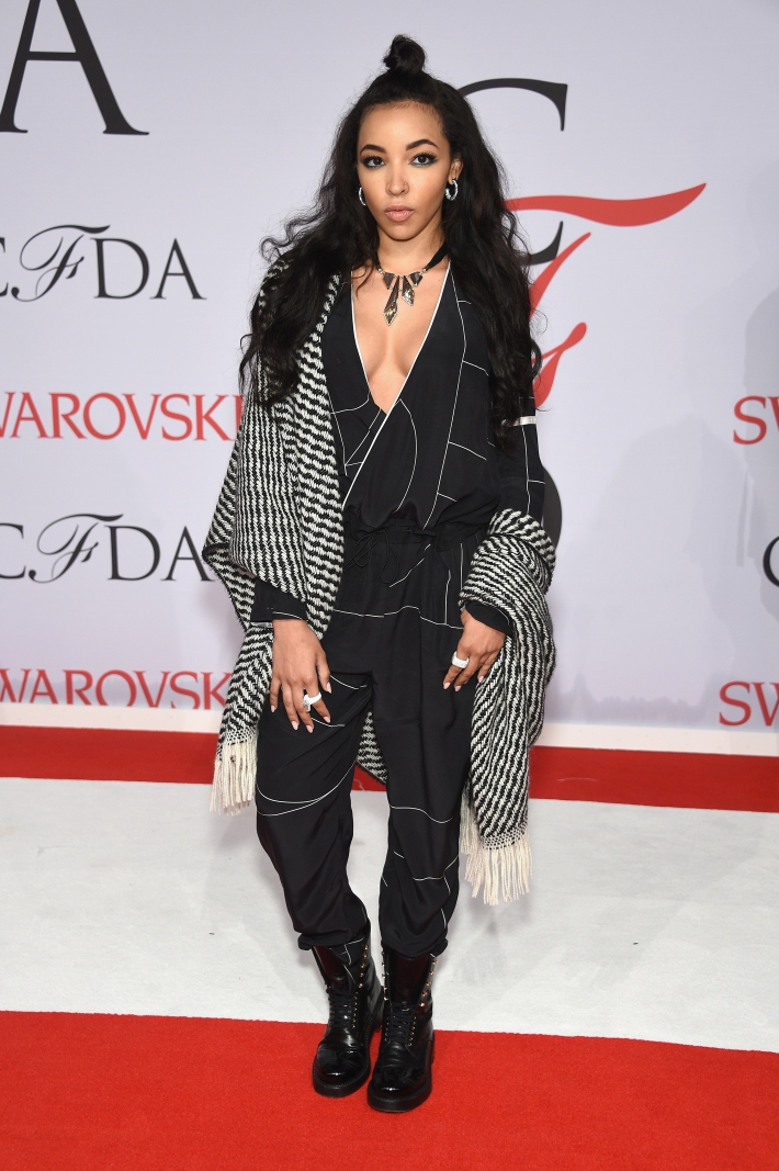 NEW YORK, NY - JUNE Tinashe attends the 2015 CFDA Fashion Awards  at Alice Tully Hall at Lincoln Center