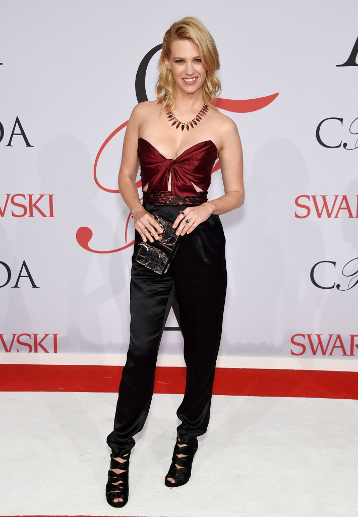 January Jones attends the 2015 CFDA Fashion Awards at Alice Tully Hall at Lincoln Center