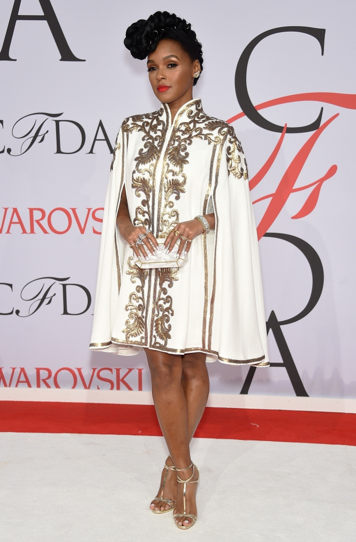 Janelle Monae attends the 2015 CFDA Fashion Awards at Alice Tully Hall at Lincoln Center