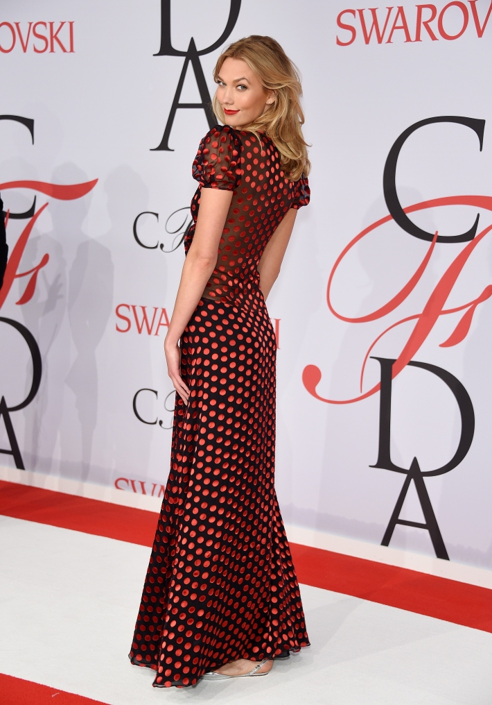Karlie Kloss attends the 2015 CFDA Fashion Awards at Alice Tully Hall at Lincoln Center