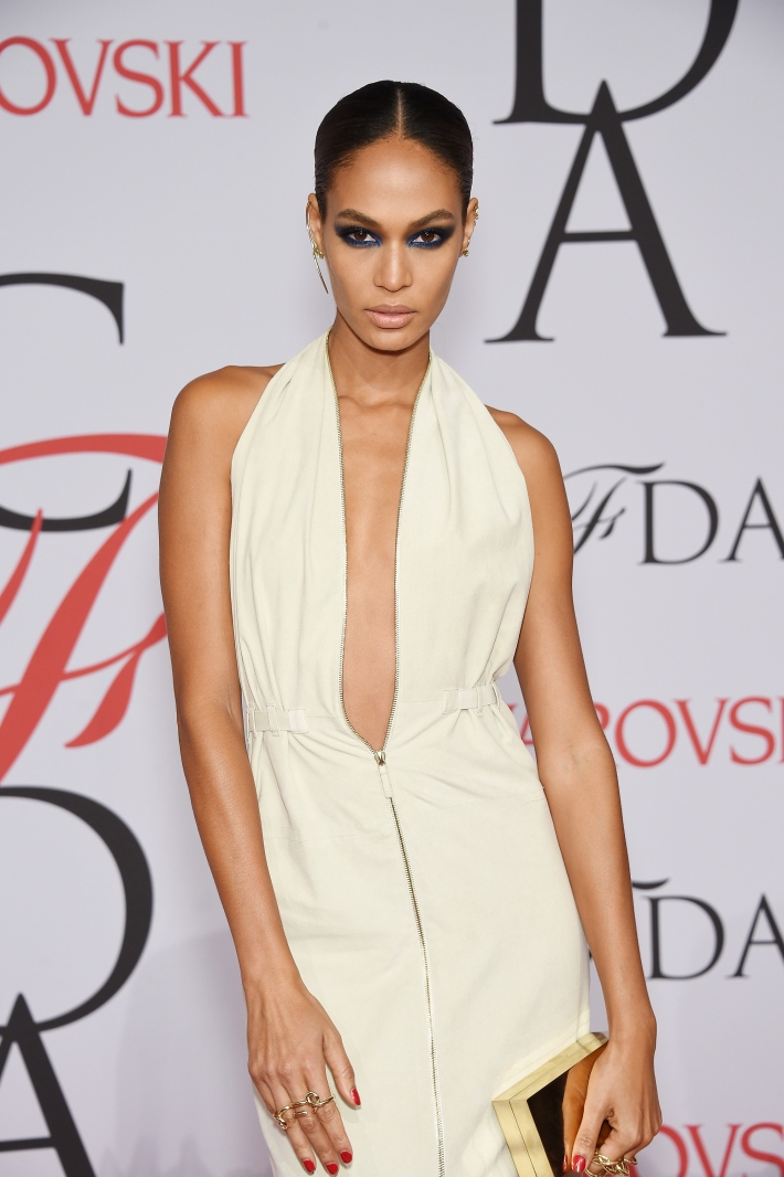 Joan Smalls attends the 2015 CFDA Fashion Awards at Alice Tully Hall at Lincoln Center