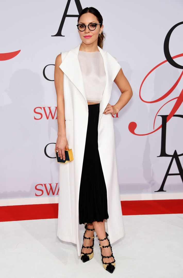 Katharine McPhee attends the 2015 CFDA Fashion Awards at Alice Tully Hall at Lincoln Center