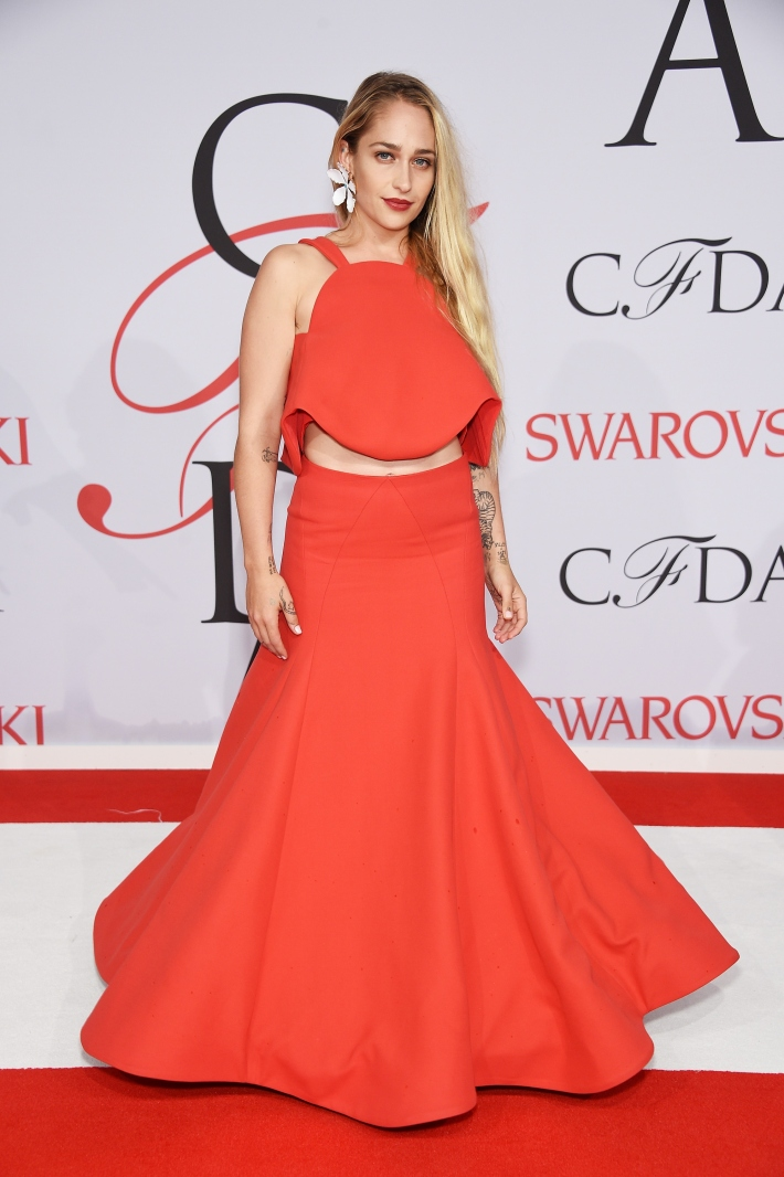 Jemima Kirke attends the 2015 CFDA Fashion Awards at Alice Tully Hall at Lincoln Center