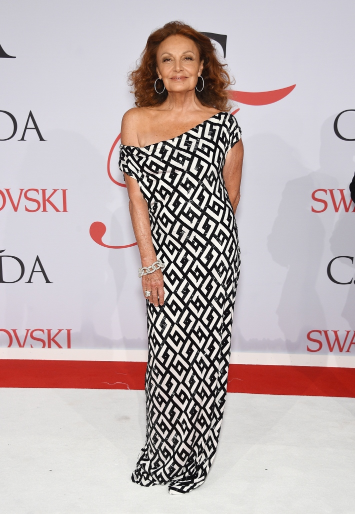 Diane von Furstenberg attends the 2015 CFDA Fashion Awards at Alice Tully Hall at Lincoln Center