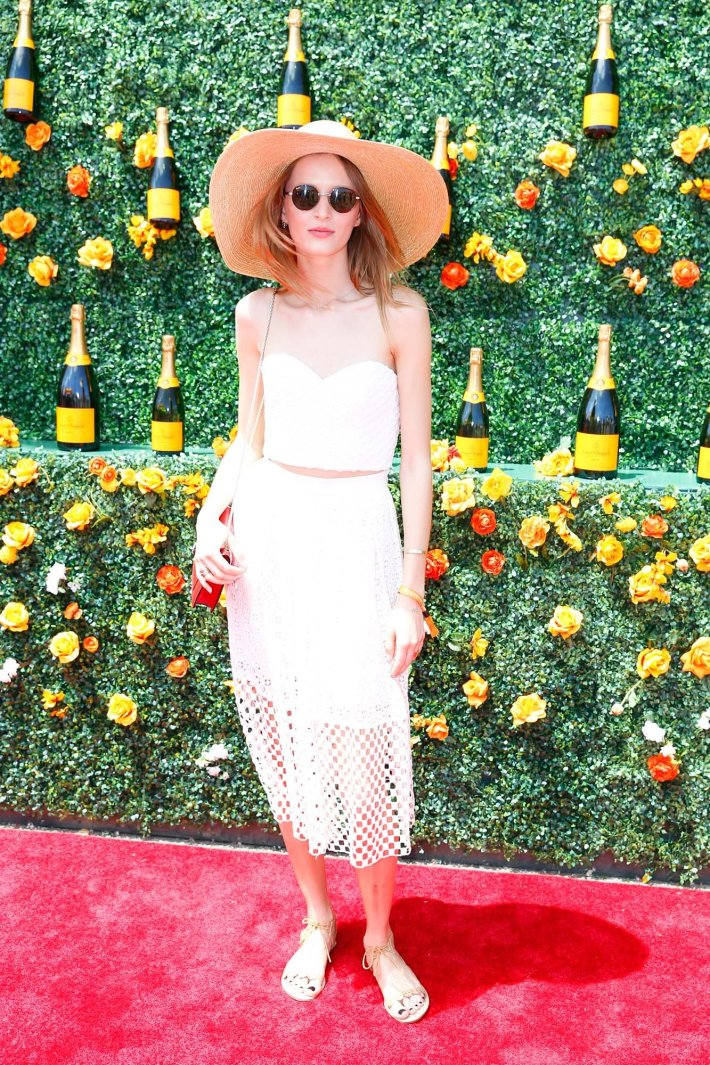 Daria Strokous attends the Eighth-Annual Veuve Clicquot Polo Classic at Liberty State Park