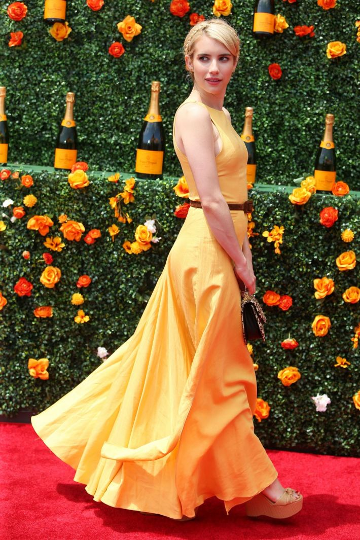Emma Roberts attends the Eighth-Annual Veuve Clicquot Polo Classic at Liberty State Park