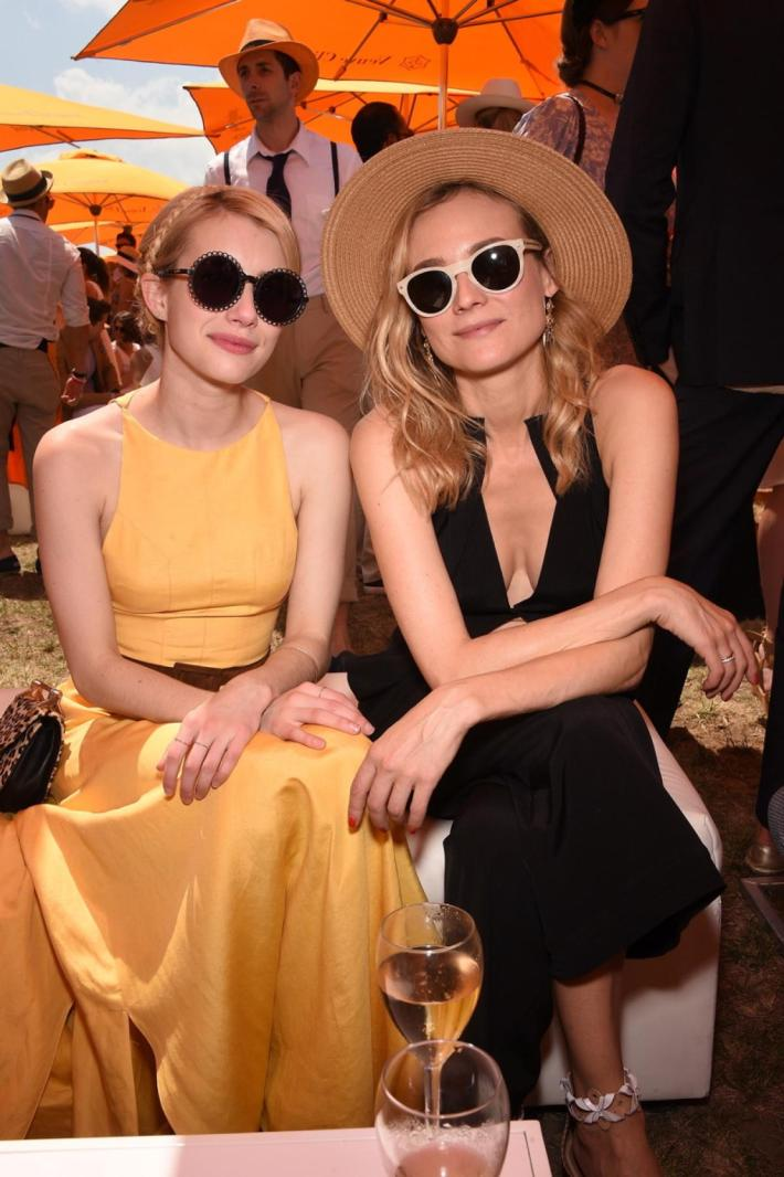 Emma Roberts and Diane Kruger attend the Eighth-Annual Veuve Clicquot Polo Classic at Liberty State Park
