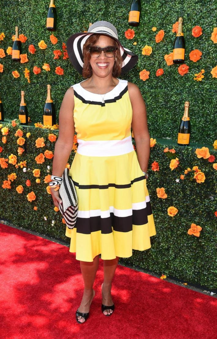 Gayle King attends the Eighth-Annual Veuve Clicquot Polo Classic at Liberty State Park