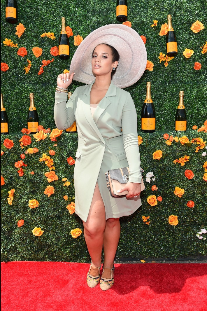Dascha Polanco attends the Eighth-Annual Veuve Clicquot Polo Classic at Liberty State Park