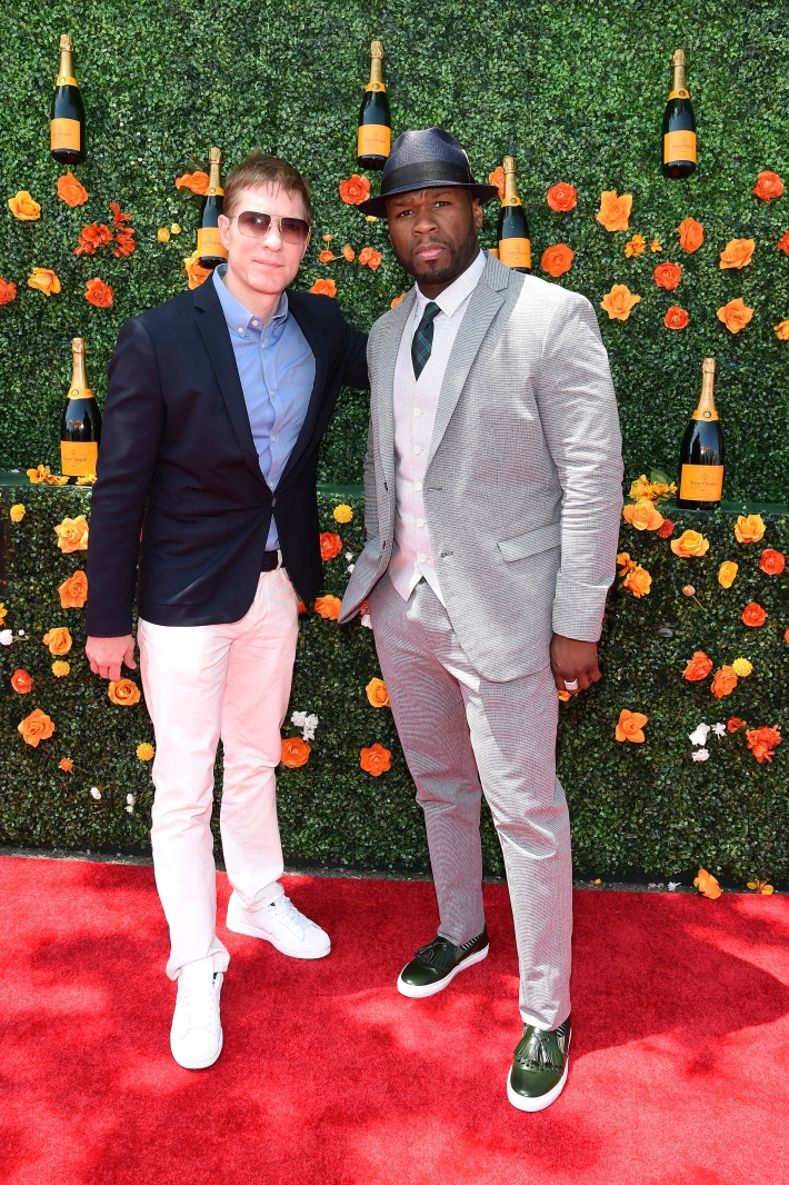 Joe Sikora and Curtis James Jackson III '50 Cent' attend the Eighth-Annual Veuve Clicquot Polo Classic at Liberty State Park
