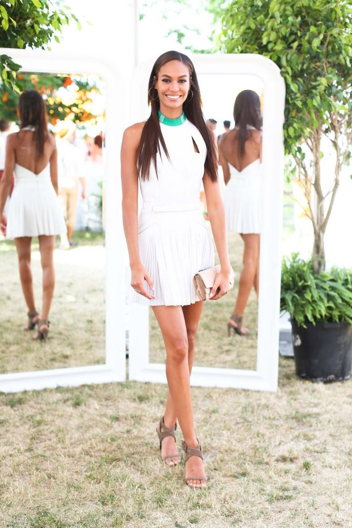 Joan Smalls attends the Eighth-Annual Veuve Clicquot Polo Classic at Liberty State Park
