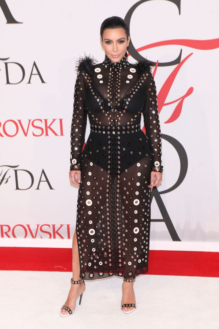 Kim Kardashian West attends the 2015 CFDA Fashion Awards at Alice Tully Hall at Lincoln Center